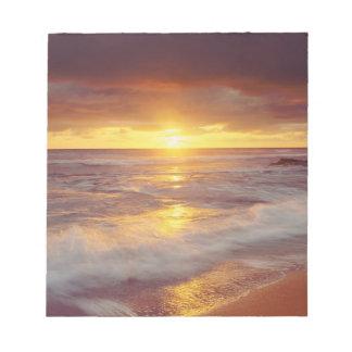 USA, California, San Diego. Sunset Cliffs beach Note Pad