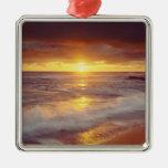 USA, California, San Diego. Sunset Cliffs beach Ornament