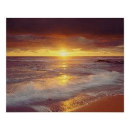 USA, California, San Diego. Sunset Cliffs beach Poster