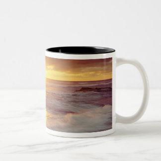 USA, California, San Diego. Sunset Cliffs beach Two-Tone Coffee Mug