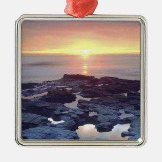 USA, California, San Diego. Sunset Cliffs tide Metal Ornament