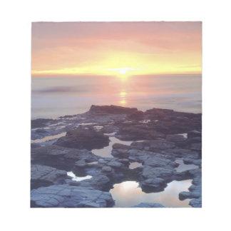 USA, California, San Diego. Sunset Cliffs tide Notepad
