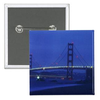 USA, California, San Francisco. Golden Gate 2 Button