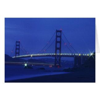 USA, California, San Francisco. Golden Gate 2 Card