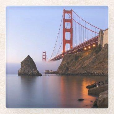USA Themed USA, California, San Francisco. Golden Gate 2 Glass Coaster