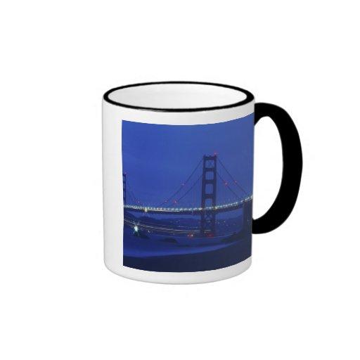 USA, California, San Francisco. Golden Gate 2 Ringer Coffee Mug