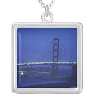 USA, California, San Francisco. Golden Gate 2 Silver Plated Necklace
