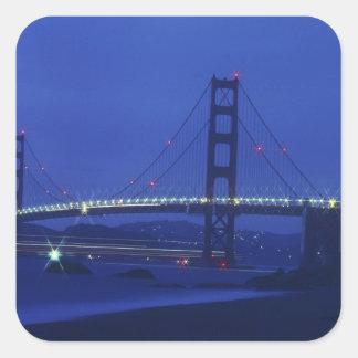 USA, California, San Francisco. Golden Gate 2 Square Sticker