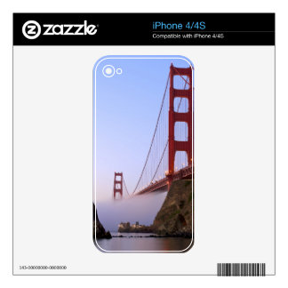 USA, California, San Francisco. Golden Gate 3 Decals For The iPhone 4S