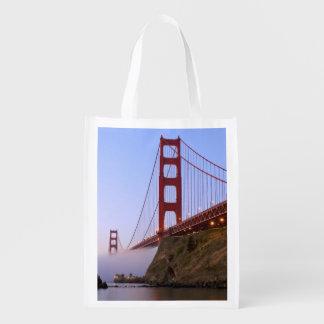 USA, California, San Francisco. Golden Gate 3 Reusable Grocery Bags