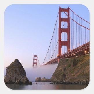 USA, California, San Francisco. Golden Gate 3 Square Sticker