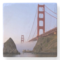 USA, California, San Francisco. Golden Gate 3 Stone Coaster