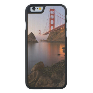 USA, California, San Francisco. Golden Gate Carved Maple iPhone 6 Slim Case