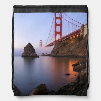 USA, California, San Francisco. Golden Gate Drawstring Bag