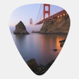 USA, California, San Francisco. Golden Gate Guitar Pick
