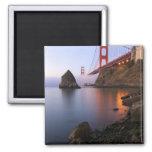 USA, California, San Francisco. Golden Gate 2 Inch Square Magnet