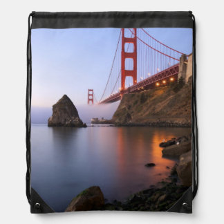 USA California San Francisco Golden Gate Drawstring Backpacks