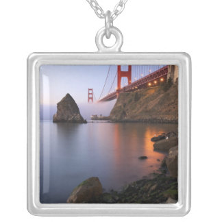USA, California, San Francisco. Golden Gate Silver Plated Necklace