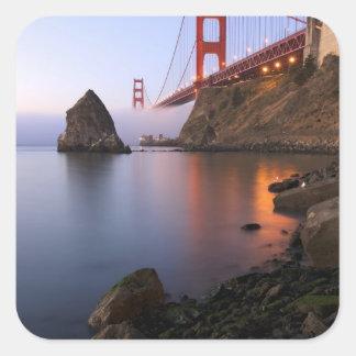 USA, California, San Francisco. Golden Gate Square Sticker