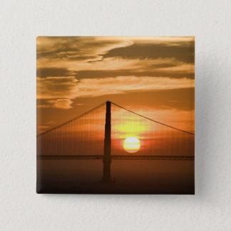 USA. California. San Francisco. Sun setting Button