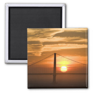 USA. California. San Francisco. Sun setting Magnet