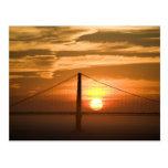 USA. California. San Francisco. Sun setting Postcard