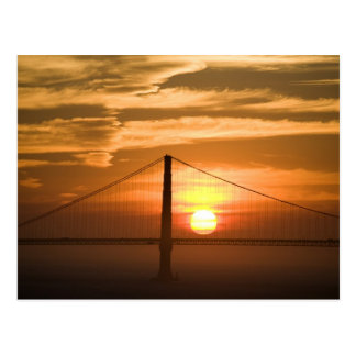 USA. California. San Francisco. Sun setting Postcard