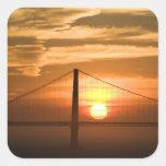 USA. California. San Francisco. Sun setting Square Sticker
