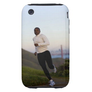 USA California San Francisco Woman jogging iPhone 3 Tough Covers