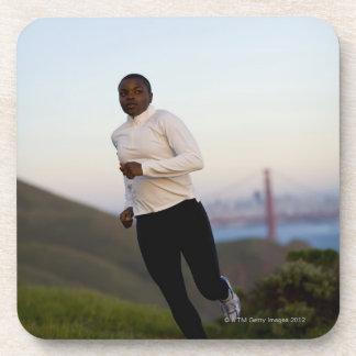 USA, California, San Francisco, Woman jogging, Drink Coasters