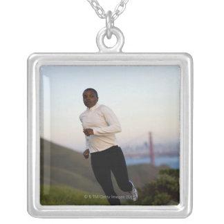 USA, California, San Francisco, Woman jogging, Custom Jewelry