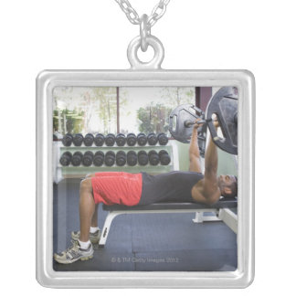 USA, California, San Luis Obispo Silver Plated Necklace
