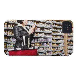 USA, California, San Rafael, Woman shopping in iPhone 4 Case