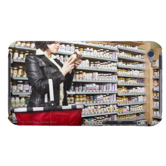 USA, California, San Rafael, Woman shopping in iPod Touch Case
