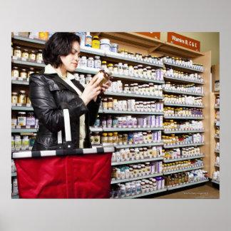 USA, California, San Rafael, Woman shopping in Poster