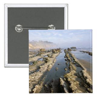USA, California, Santa Barbara, Henry's Beach. Pinback Button