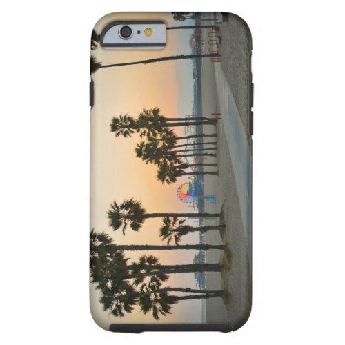 USA California Santa Monica Pier at sunset Tough iPhone 6 Case