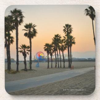 USA, California, Santa Monica Pier at sunset Coaster