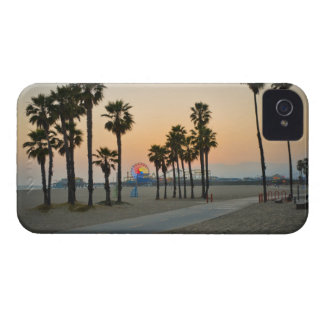 USA, California, Santa Monica Pier at sunset iPhone 4 Case