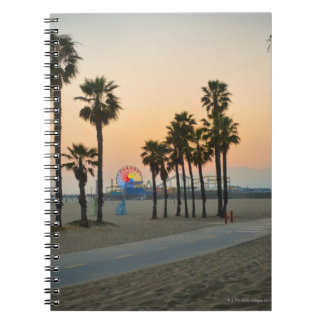 USA, California, Santa Monica Pier at sunset Notebook
