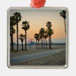 USA, California, Santa Monica Pier at sunset Ornament
