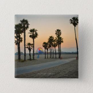 USA, California, Santa Monica Pier at sunset Pinback Button