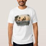 USA, California, Santa Monica Pier at sunset T Shirts