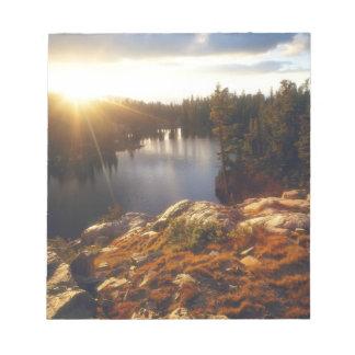 USA, California, Sierra Nevada Mountains. Sunset Notepad