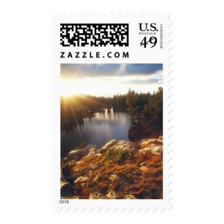 USA, California, Sierra Nevada Mountains. Sunset Stamp