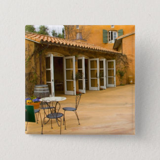 USA, California, Sonoma Valley, Patio at Viansa Pinback Button