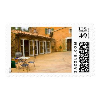USA, California, Sonoma Valley, Patio at Viansa Postage