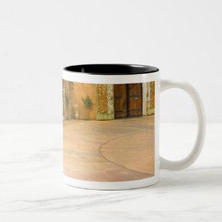 USA, California, Sonoma Valley, Patio at Viansa Two-Tone Coffee Mug