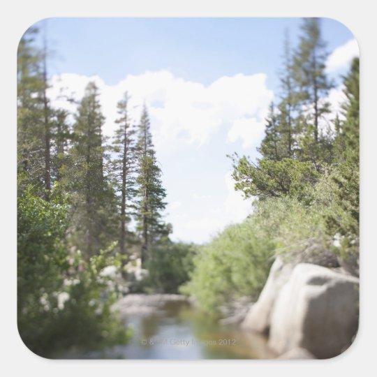 USA, California, Sonora Pass, Landscape with Square Sticker