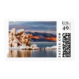 USA California Sunrise at Mono Lake Postage Stamps
